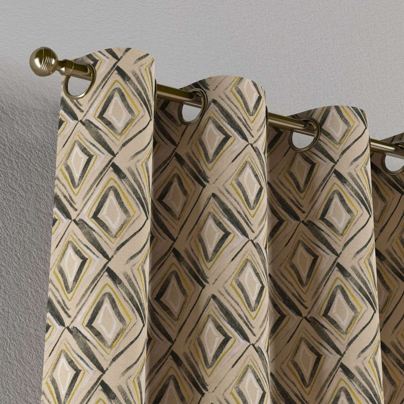 Eyelet curtains 130 × 260 cm (51 × 102 inch) in collection Londres, fabric: 140-46