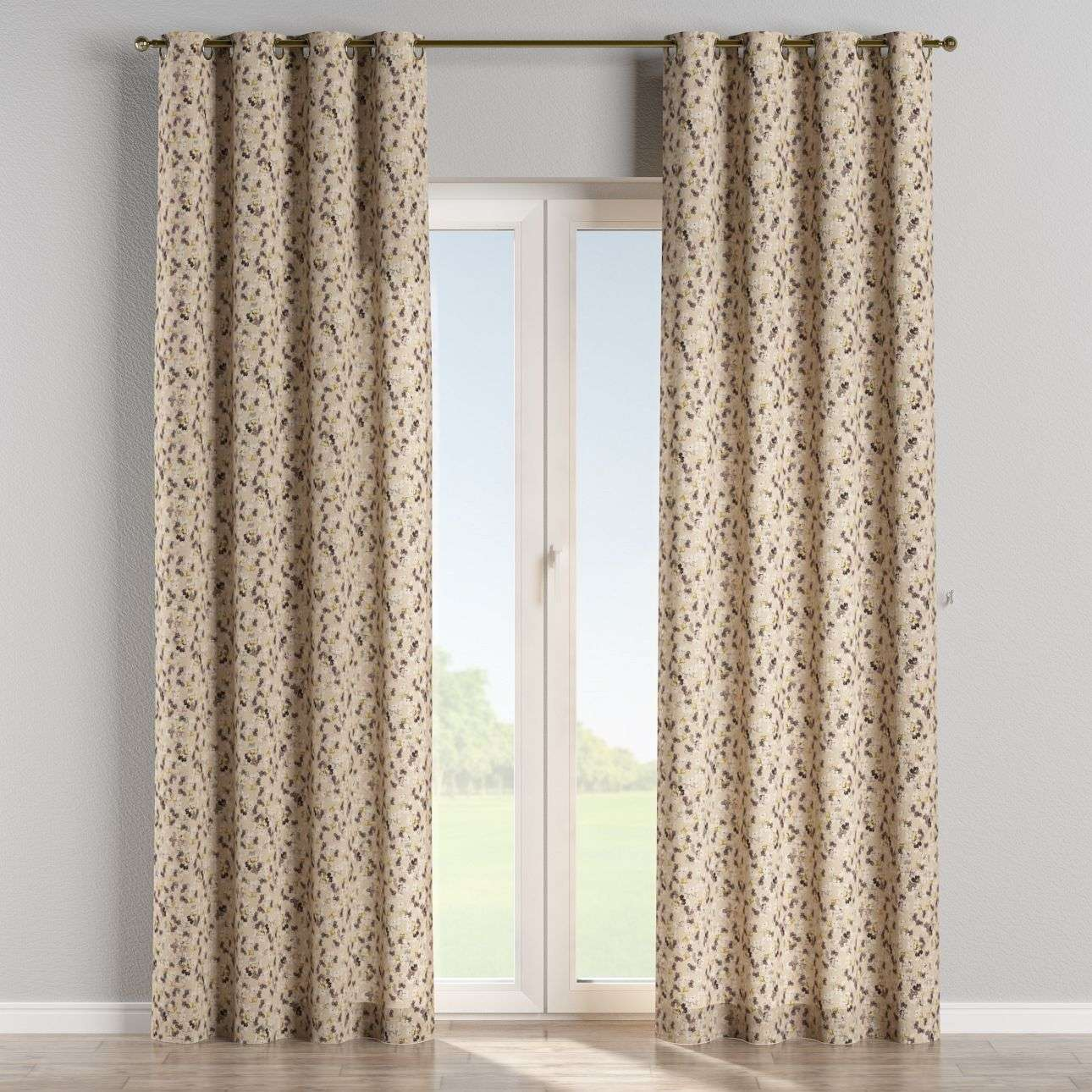 Eyelet curtains 130 x 260 cm (51 x 102 inch) in collection Londres, fabric: 140-48