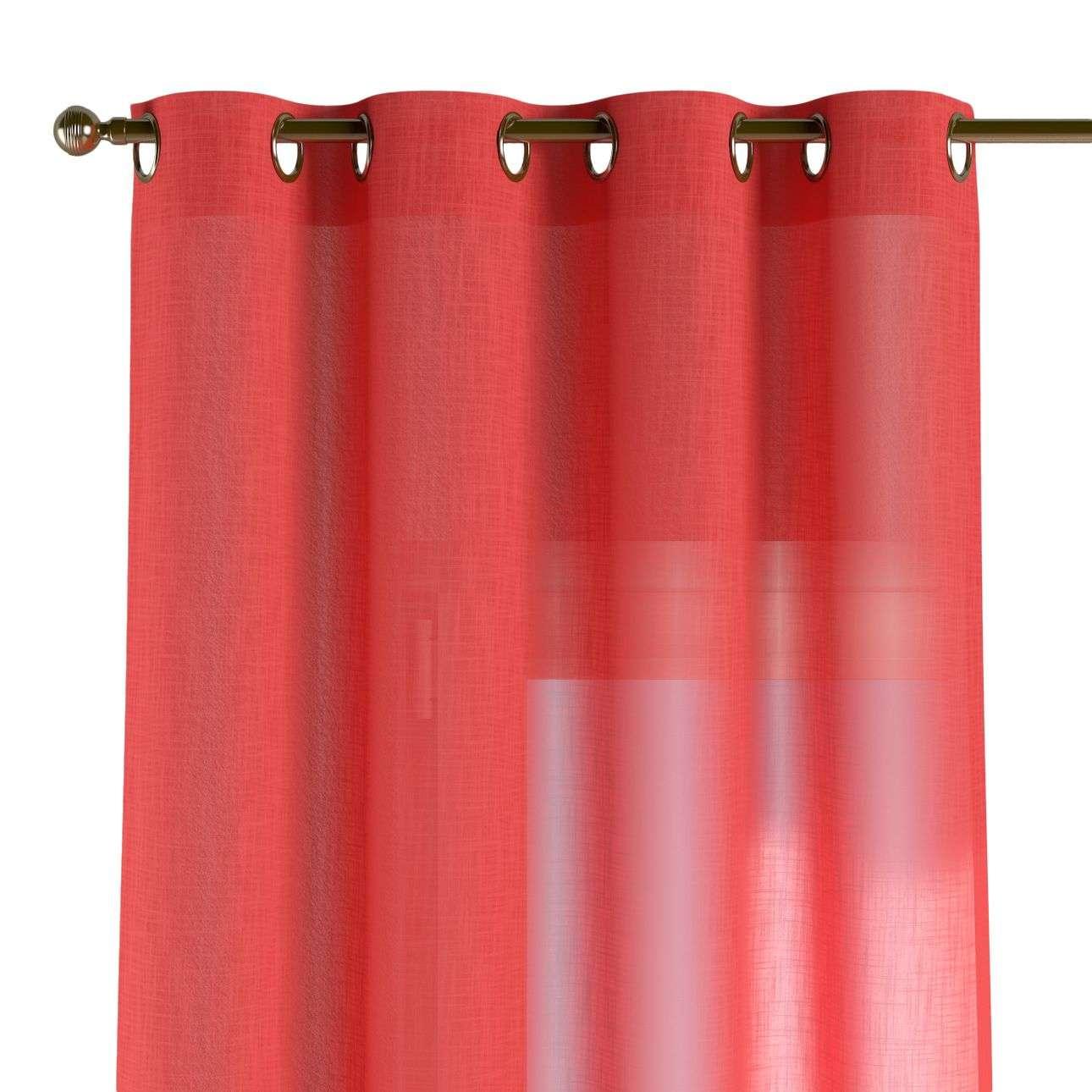 Gardin med öljetter 1 längd 130 x 260 cm i kollektionen Romantica, Tyg: 128-02