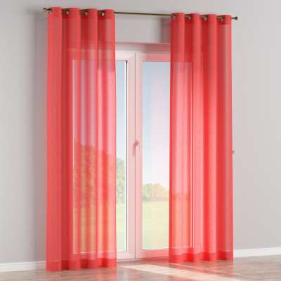 Eyelet curtain 128-02 sheer red Collection SALE