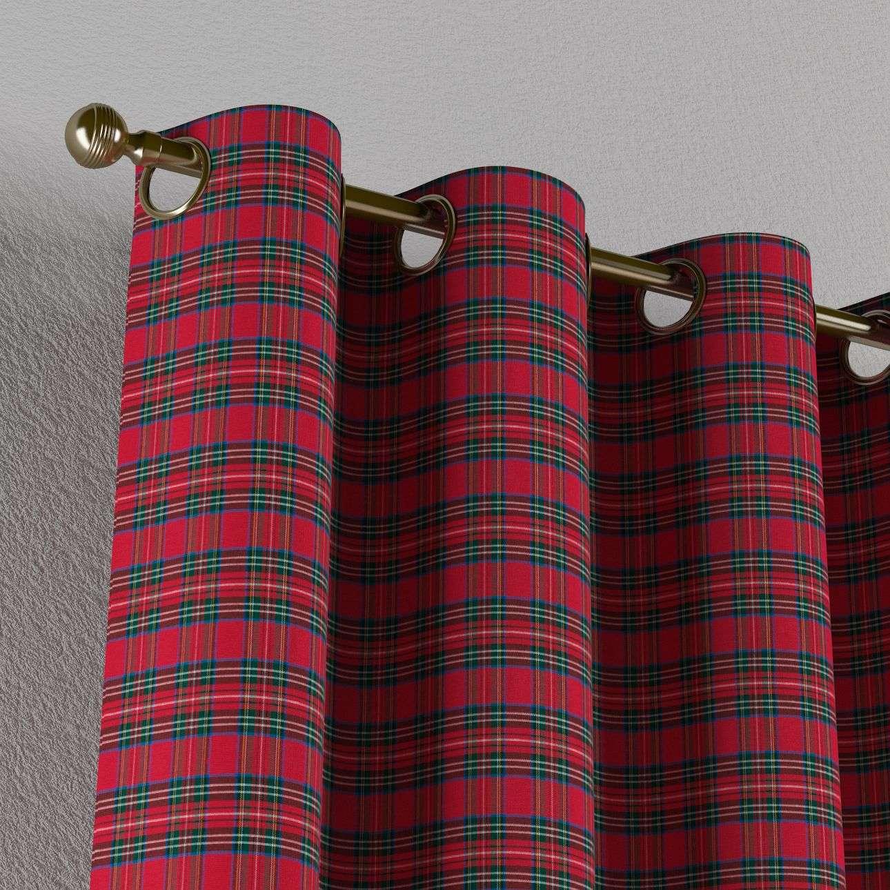 Gardin med öljetter 1 längd 130 x 260 cm i kollektionen Bristol, Tyg: 126-29