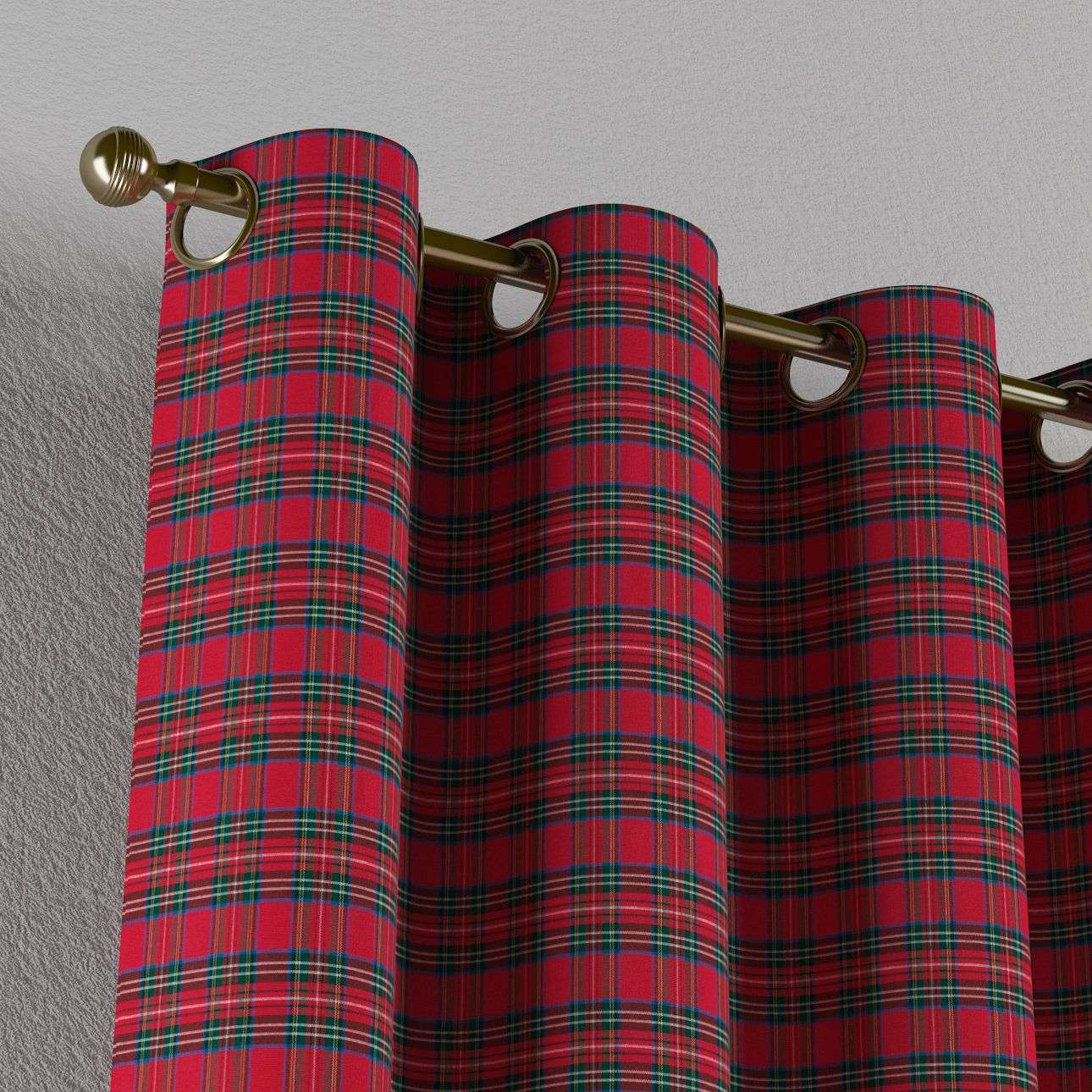 Zasłona na kółkach 1 szt. 1szt 130x260 cm w kolekcji Bristol, tkanina: 126-29