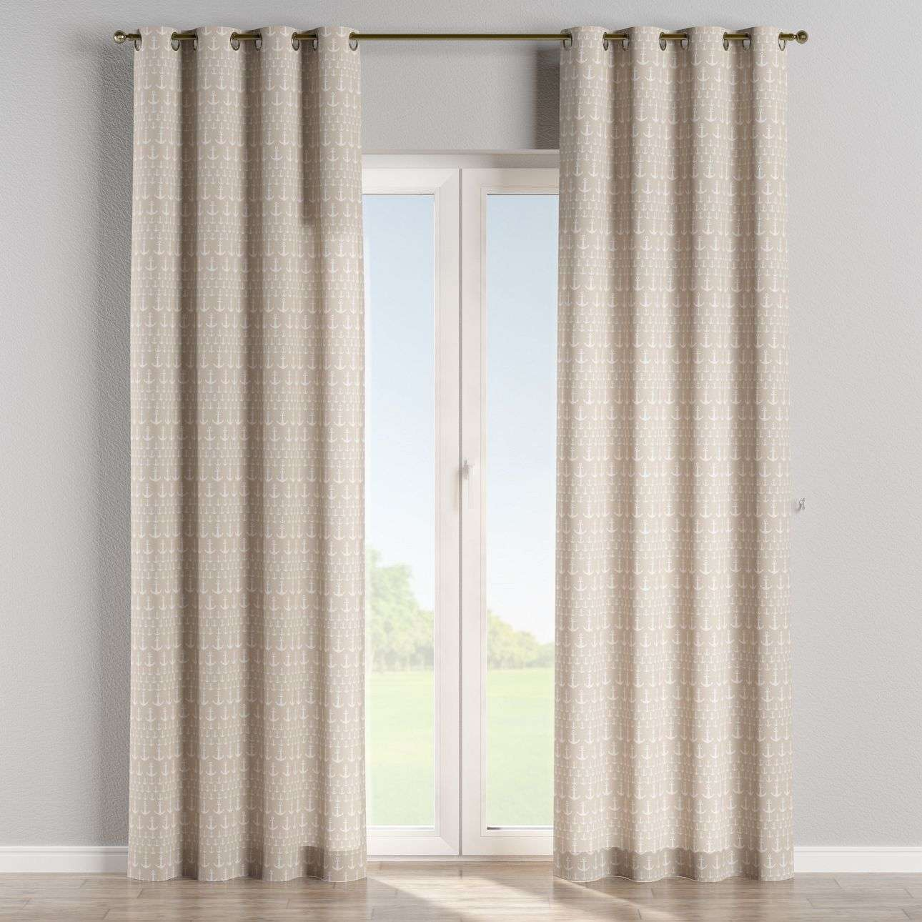 Eyelet curtains 130 x 260 cm (51 x 102 inch) in collection Marina, fabric: 140-63