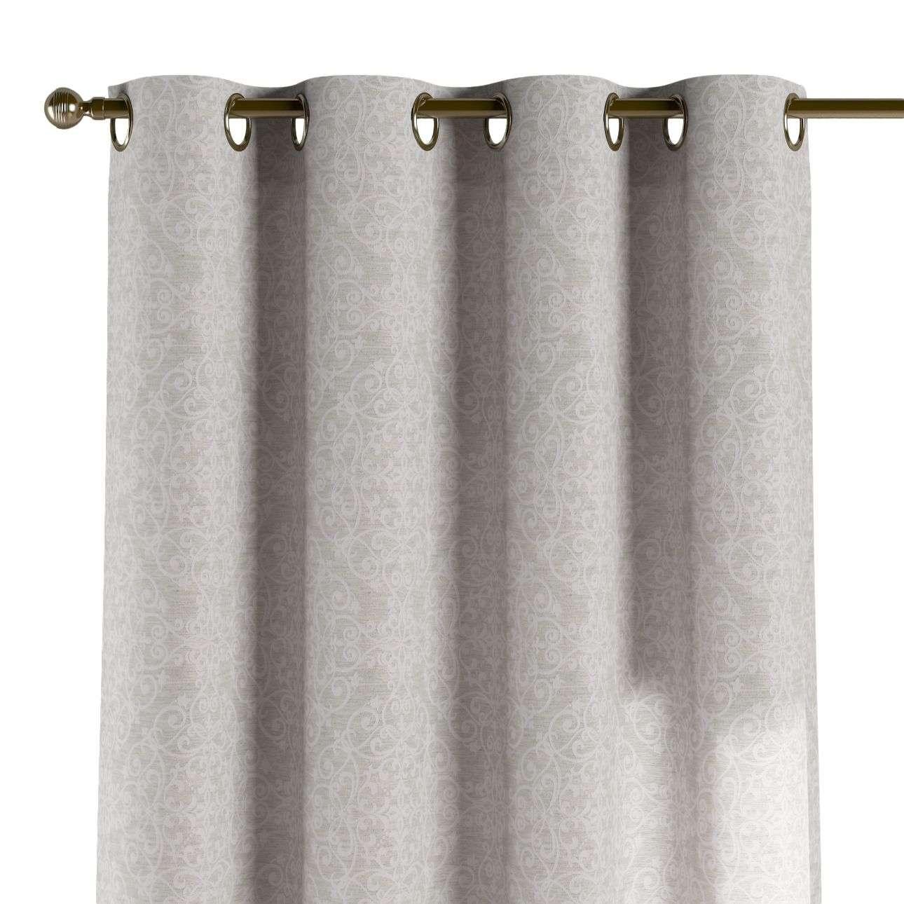Gardin med öljetter 1 längd 130 x 260 cm i kollektionen Venice - NYHET, Tyg: 140-49