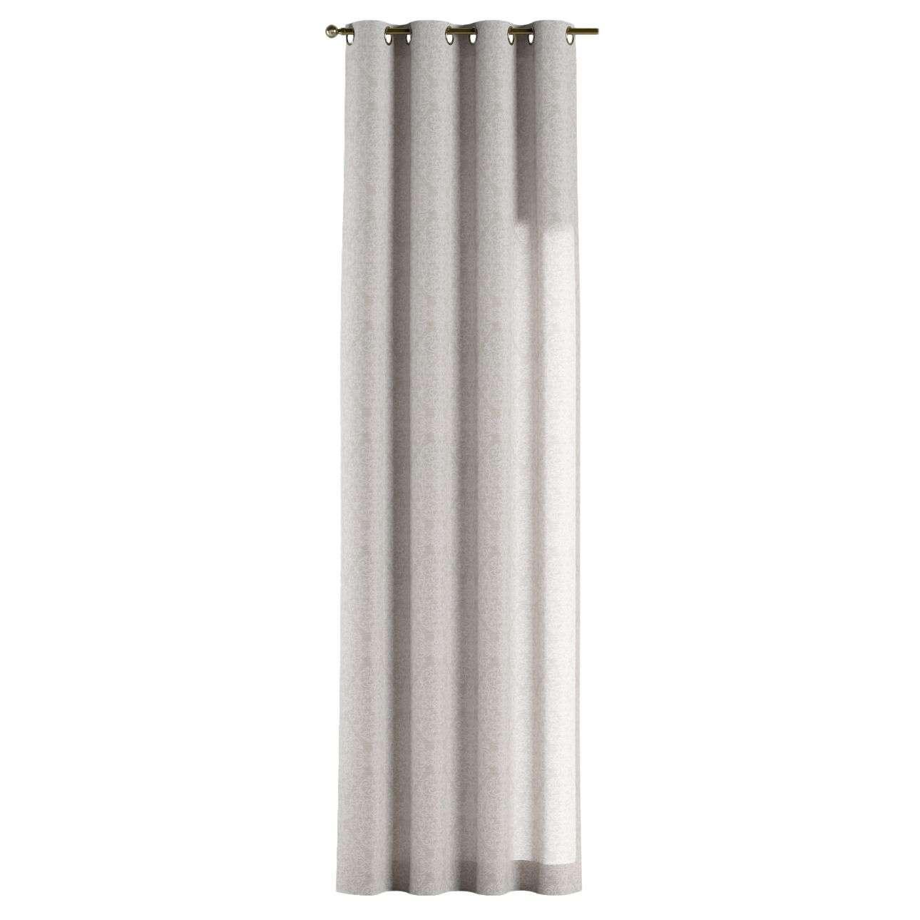 Gardin med öljetter 1 längd 130 × 260 cm i kollektionen Venice - NYHET, Tyg: 140-49