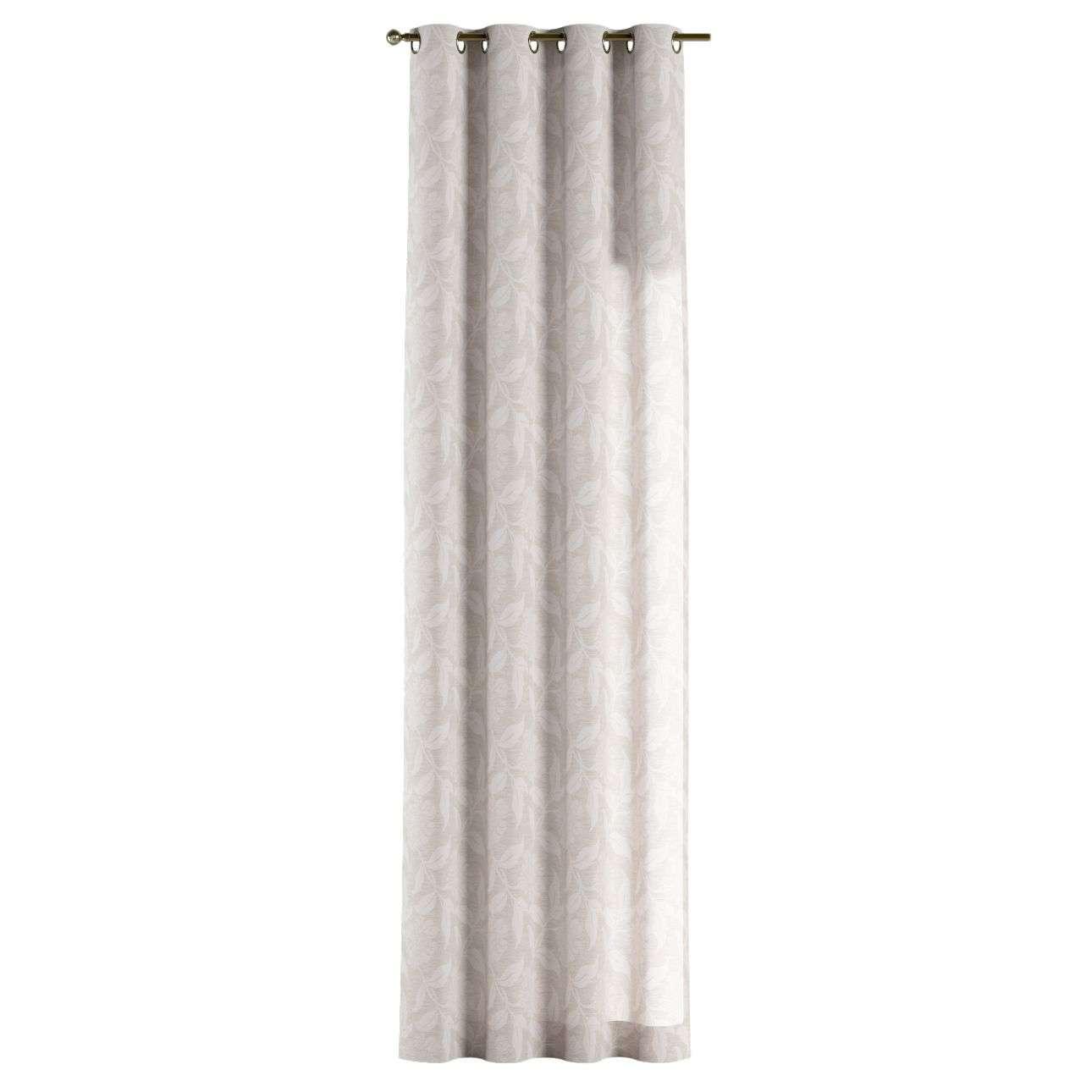 Gardin med öljetter 1 längd 130 × 260 cm i kollektionen Venice - NYHET, Tyg: 140-51