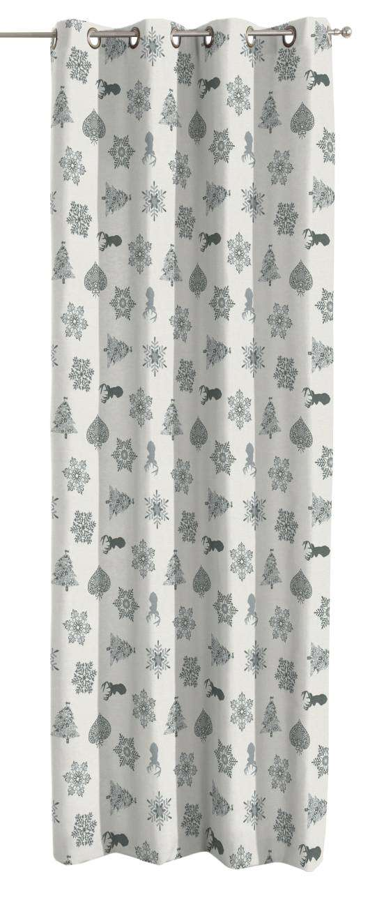 Eyelet curtains 130 x 260 cm (51 x 102 inch) in collection Christmas , fabric: 630-24