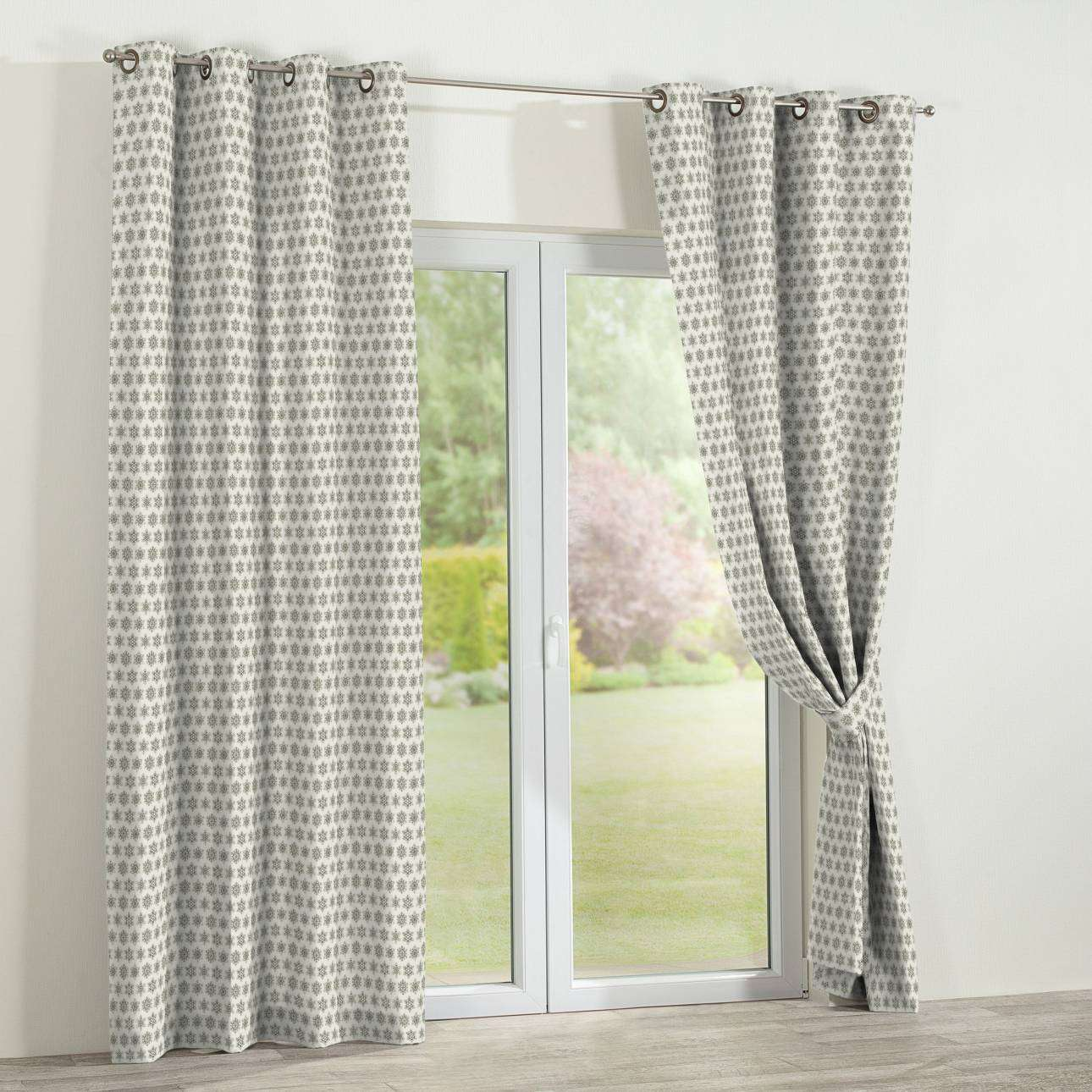 Eyelet curtains 130 x 260 cm (51 x 102 inch) in collection Christmas , fabric: 630-26