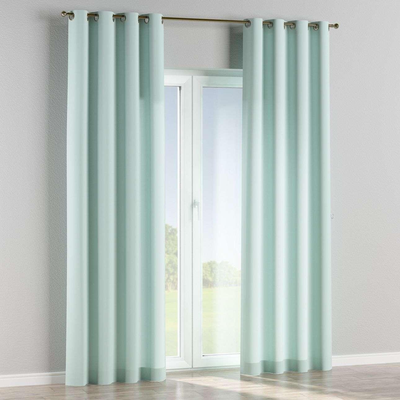 Gardin med öljetter 1 längd 130 x 260 cm i kollektionen Panama Cotton , Tyg: 702-10