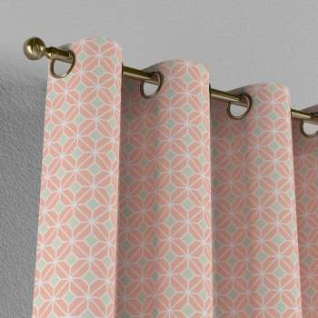 Eyelet curtains 130 × 260 cm (51 × 102 inch) in collection Geometric, fabric: 141-48