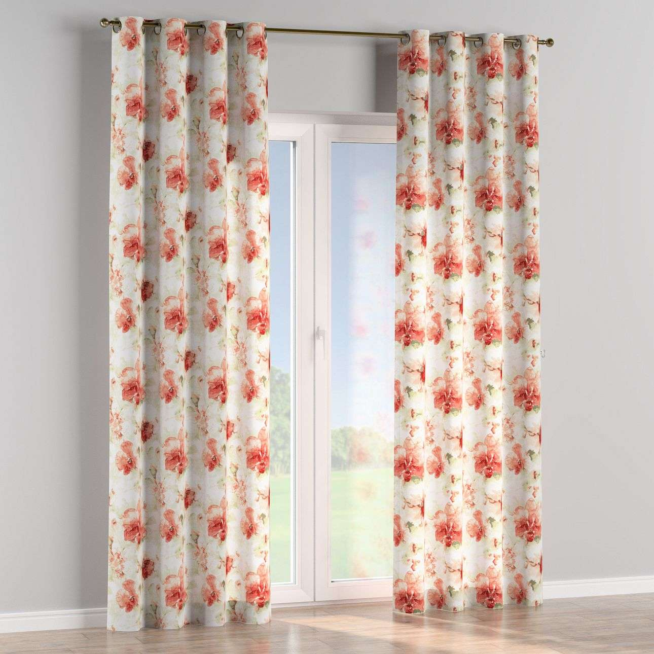 Eyelet curtains 130 x 260 cm (51 x 102 inch) in collection Acapulco, fabric: 141-34