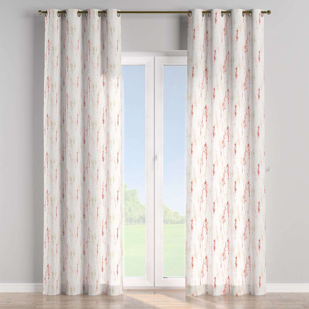 Eyelet curtains 130 x 260 cm (51 x 102 inch) in collection Acapulco, fabric: 141-37