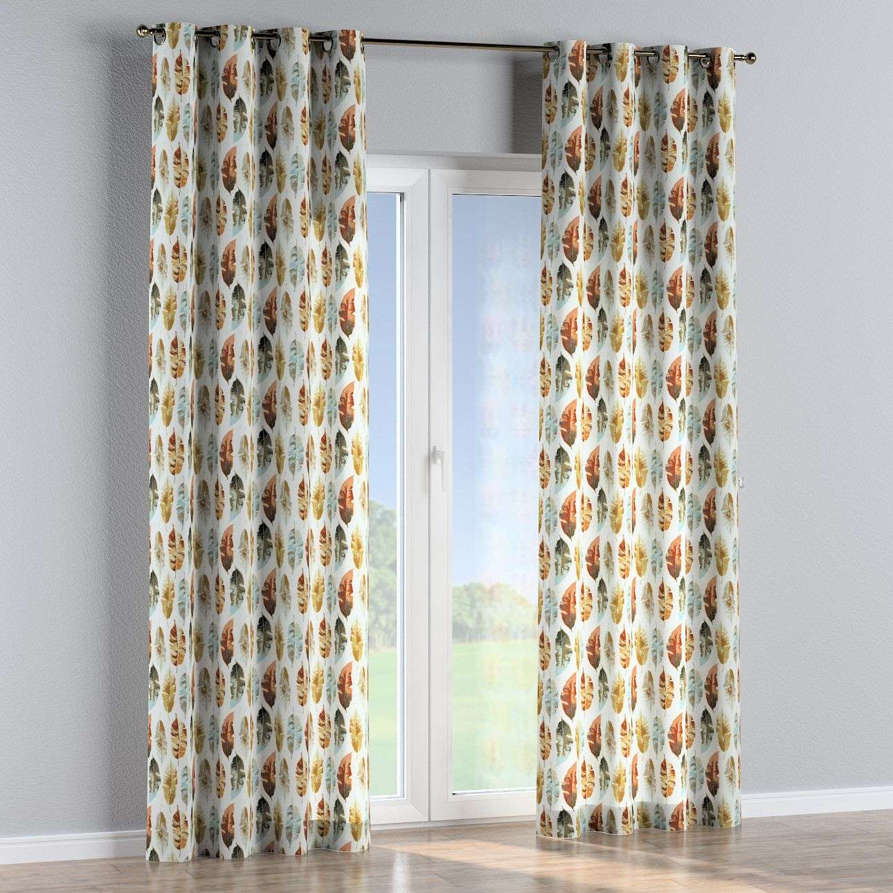 Eyelet curtains in collection Urban Jungle, fabric: 141-43