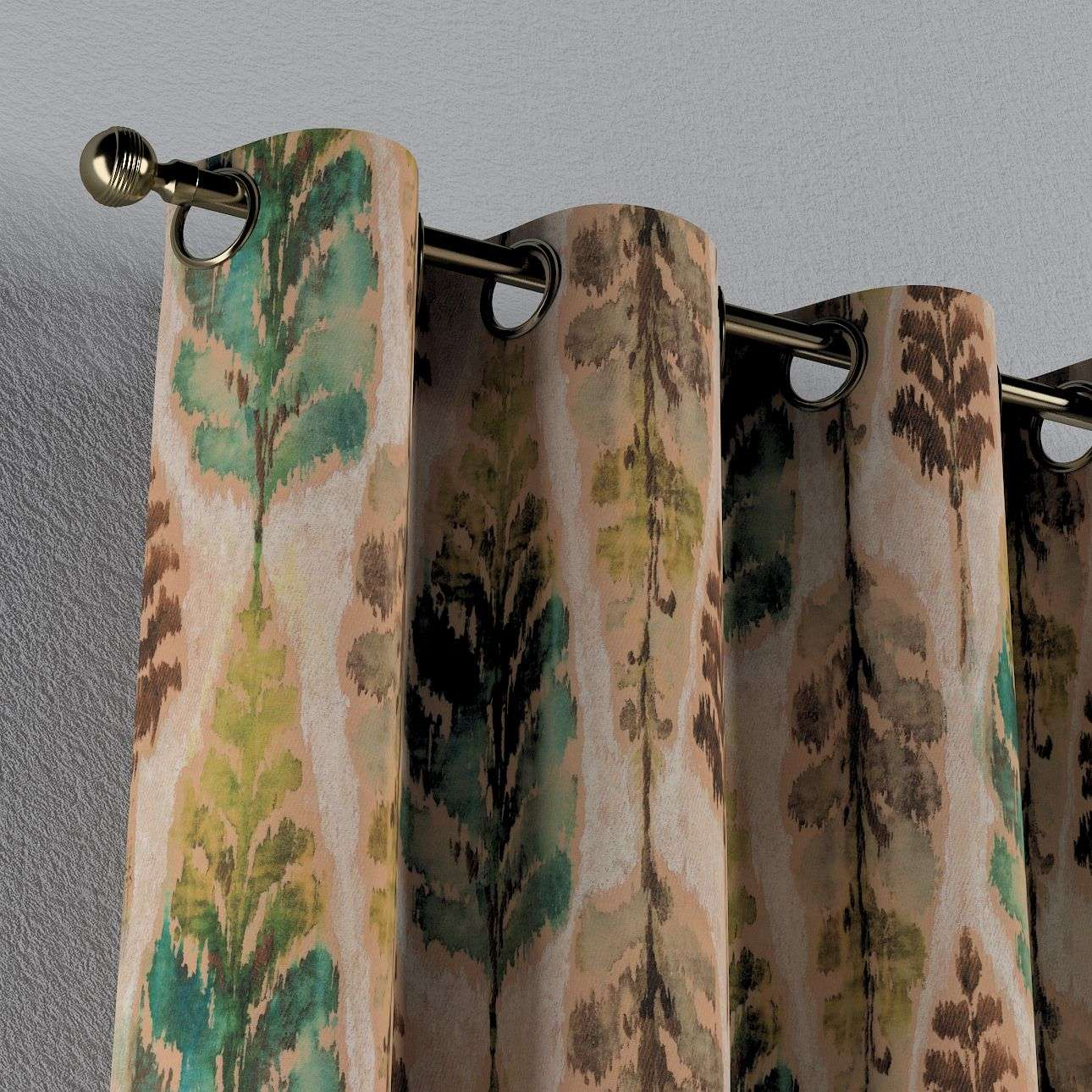 Eyelet curtains 130 × 260 cm (51 × 102 inch) in collection Urban Jungle, fabric: 141-60