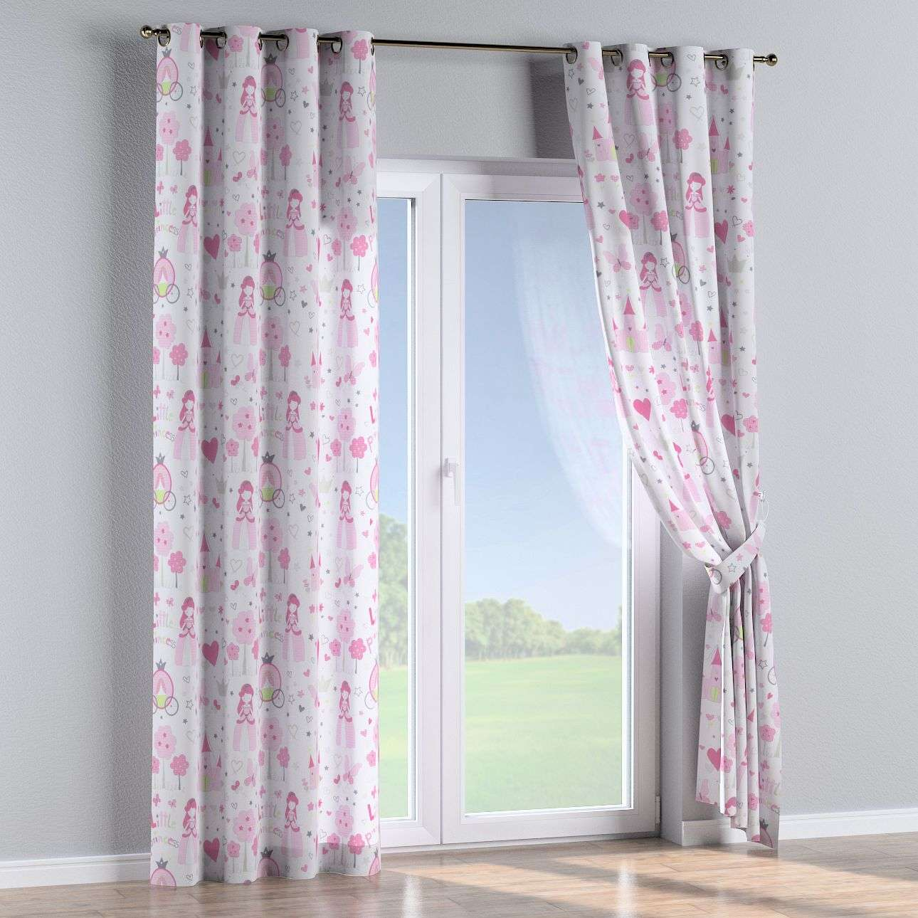 Eyelet curtains 130 x 260 cm (51 x 102 inch) in collection Little World, fabric: 141-28