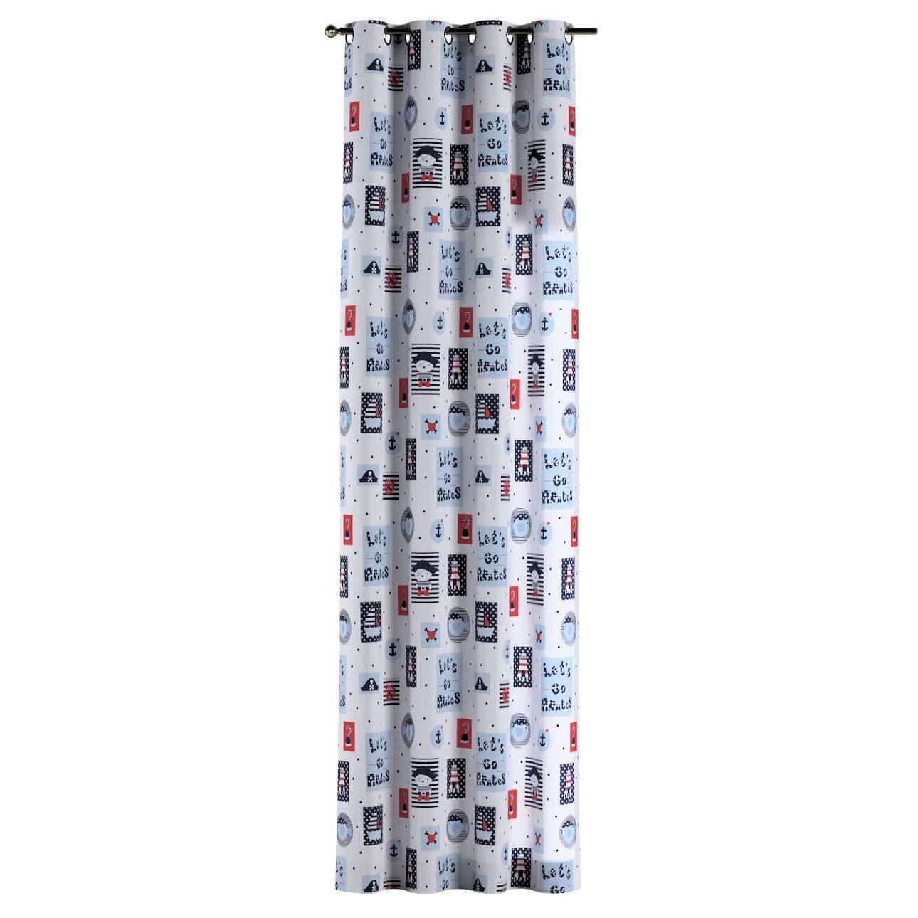 Eyelet curtains 130 × 260 cm (51 × 102 inch) in collection Little World, fabric: 141-29