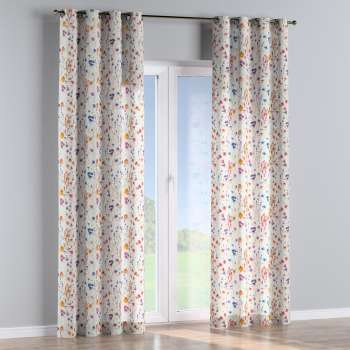 Eyelet curtains 130 x 260 cm (51 x 102 inch) in collection Flowers, fabric: 141-53