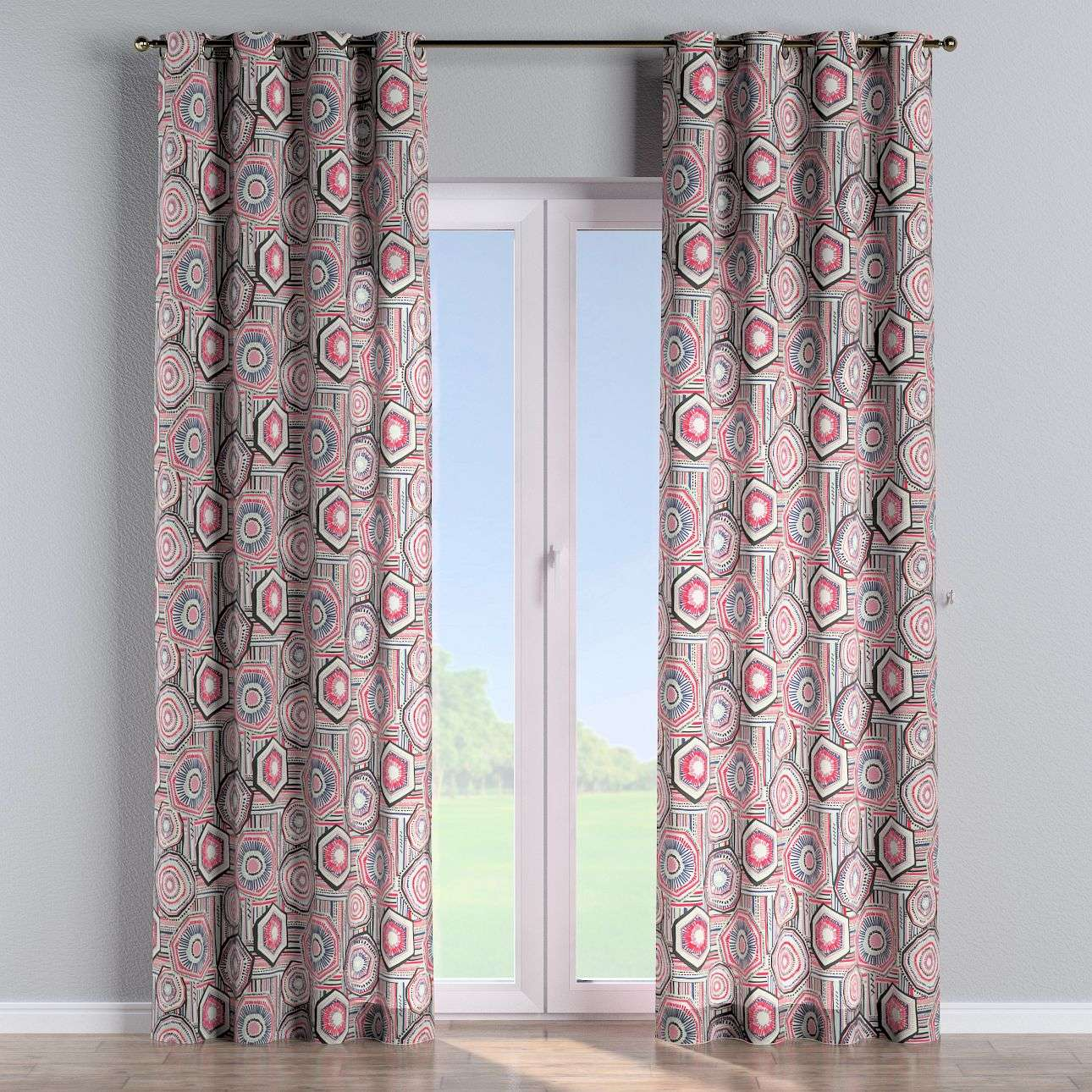Eyelet curtains 130 × 260 cm (51 × 102 inch) in collection New Art, fabric: 141-54