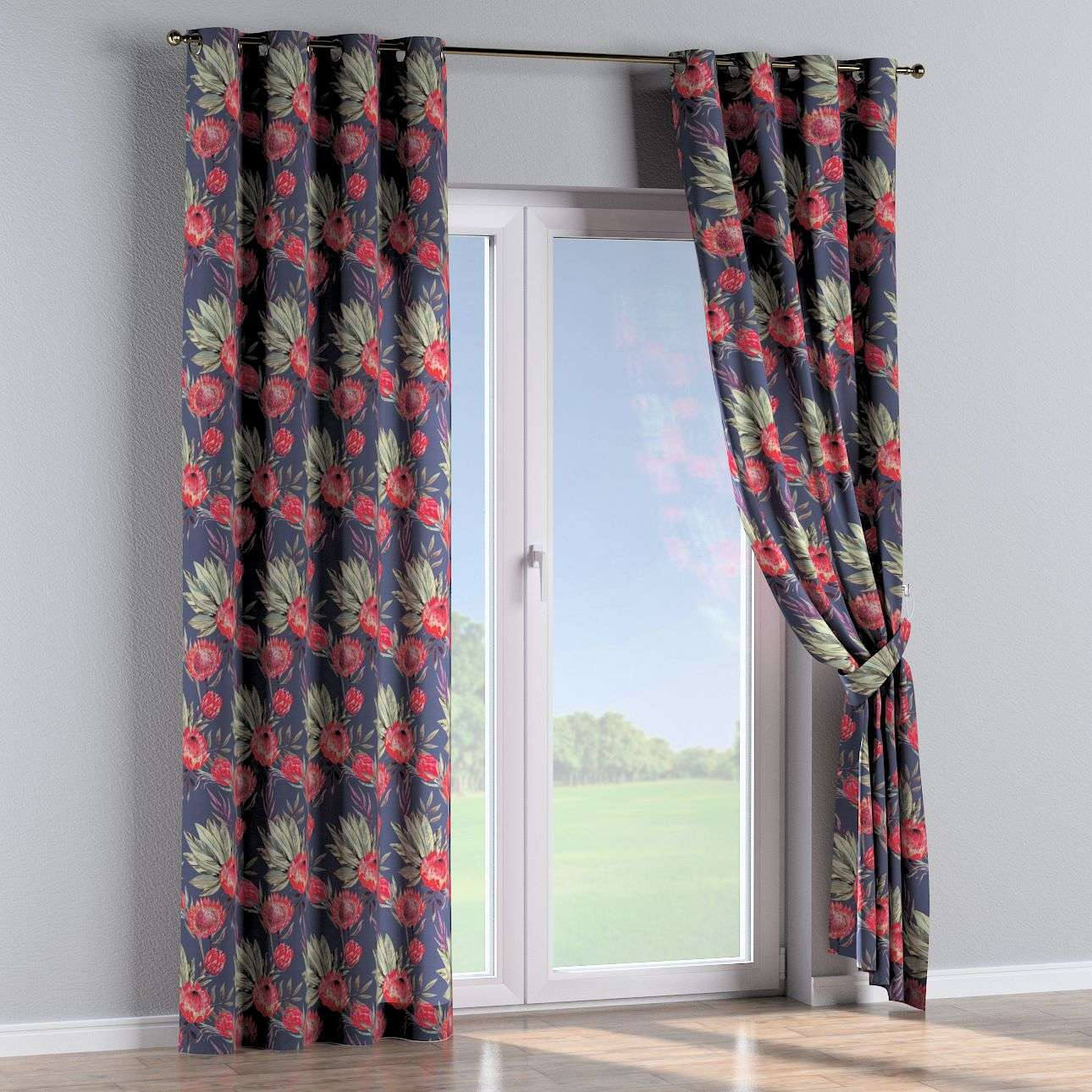 Eyelet curtains 130 x 260 cm (51 x 102 inch) in collection New Art, fabric: 141-57