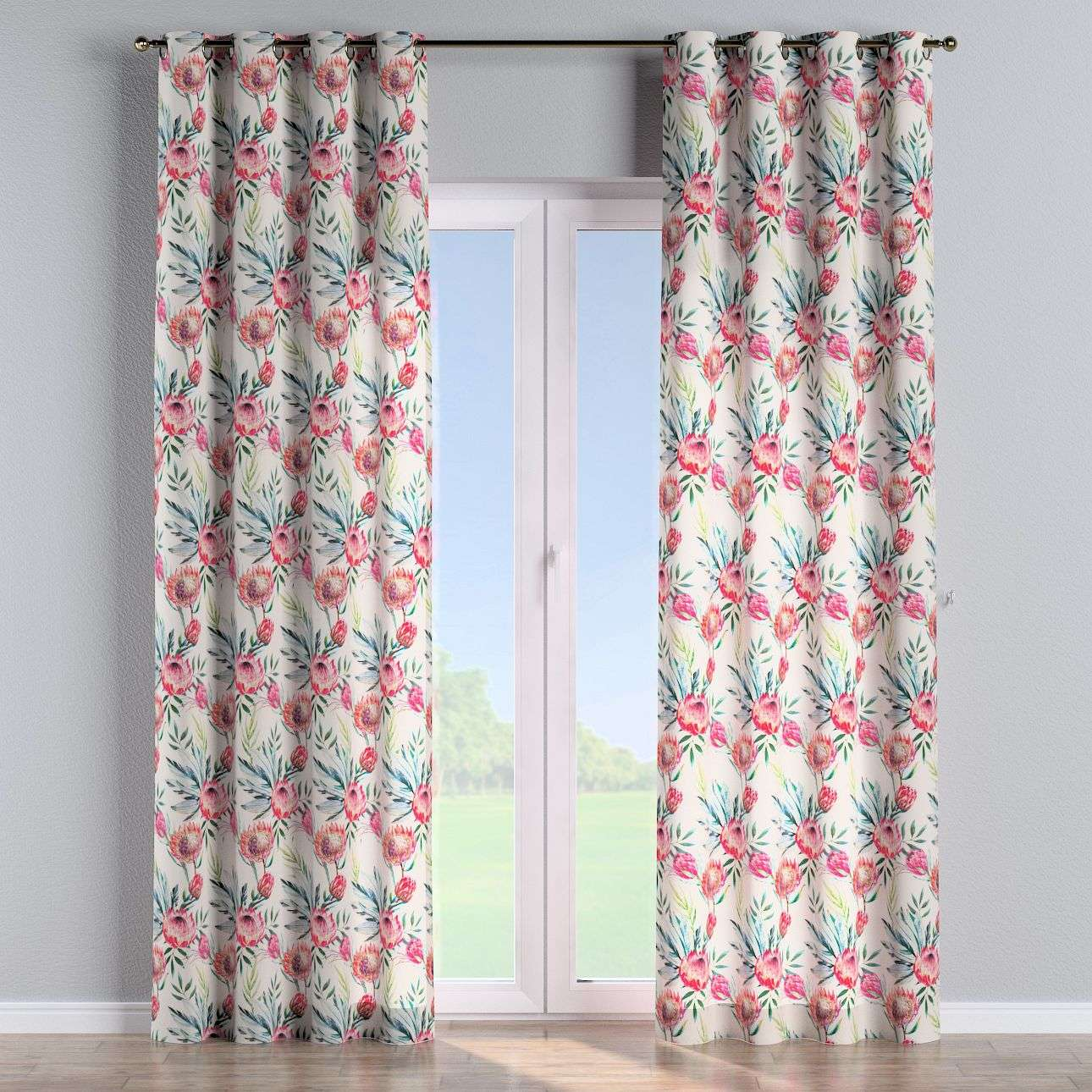 Eyelet curtains 130 x 260 cm (51 x 102 inch) in collection New Art, fabric: 141-59
