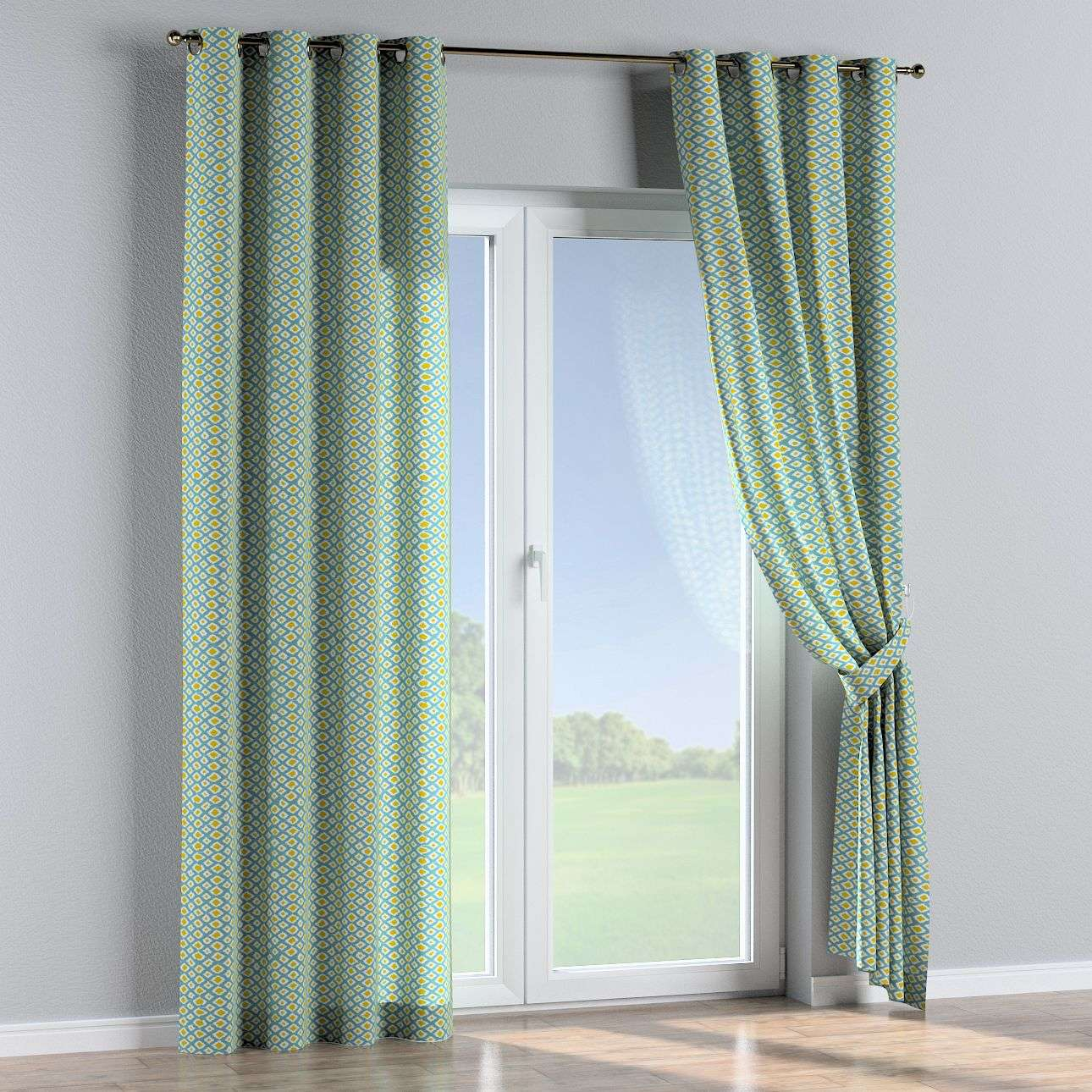Eyelet curtains in collection Comics/Geometrical, fabric: 141-20
