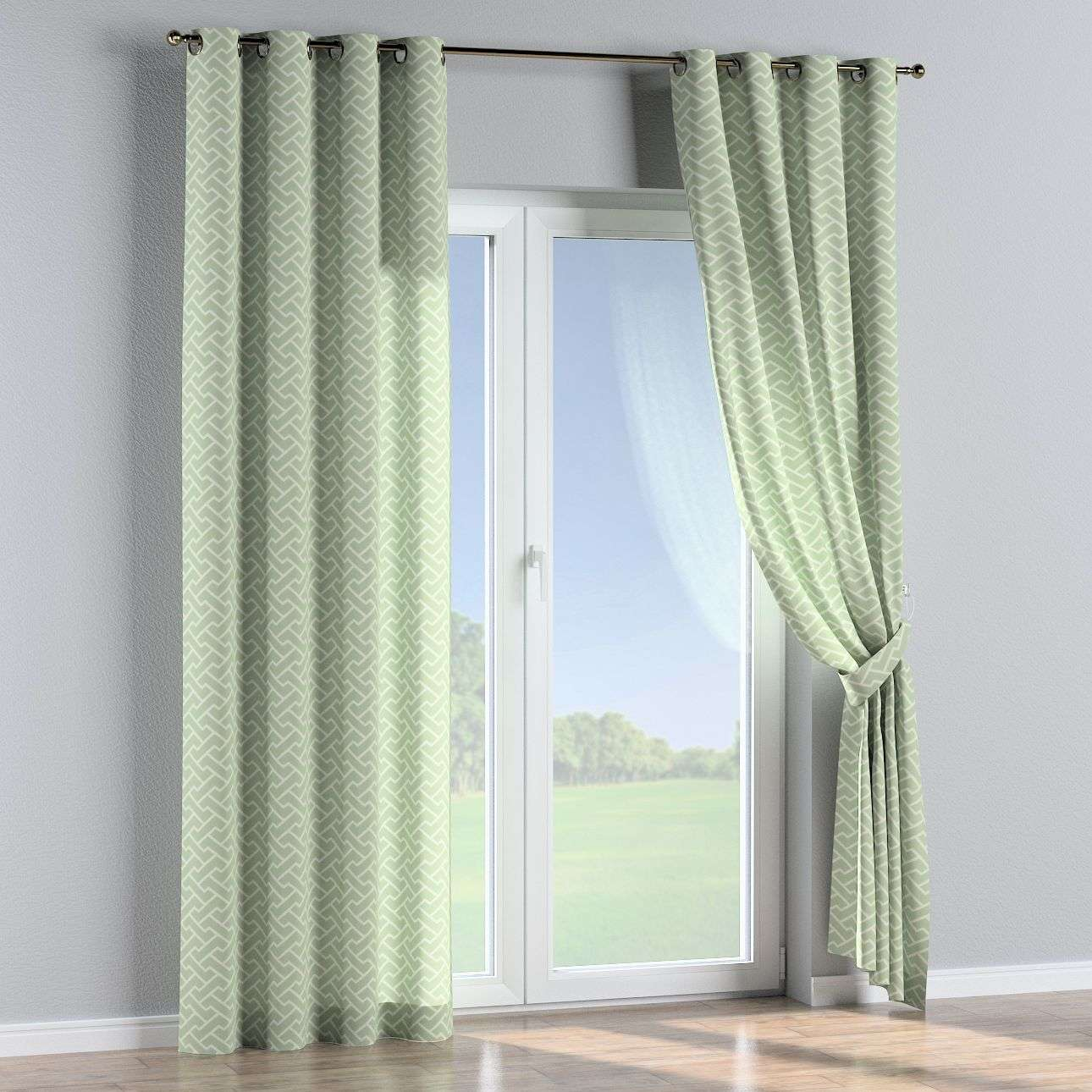 Eyelet curtains 130 x 260 cm (51 x 102 inch) in collection Comic Book & Geo Prints, fabric: 141-63