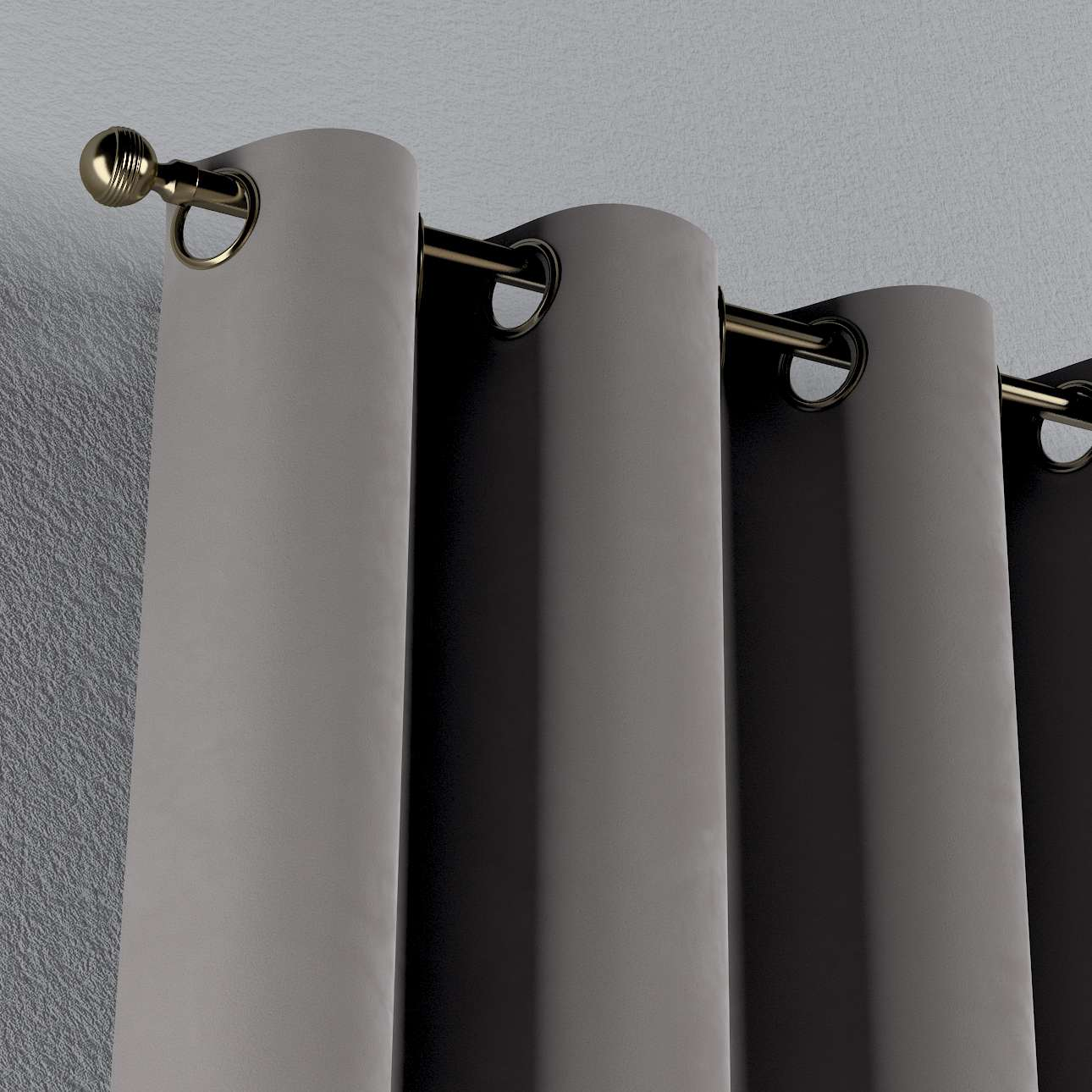 Gardin med øskner 130 × 260 cm fra kollektionen Velvet, Stof: 704-11