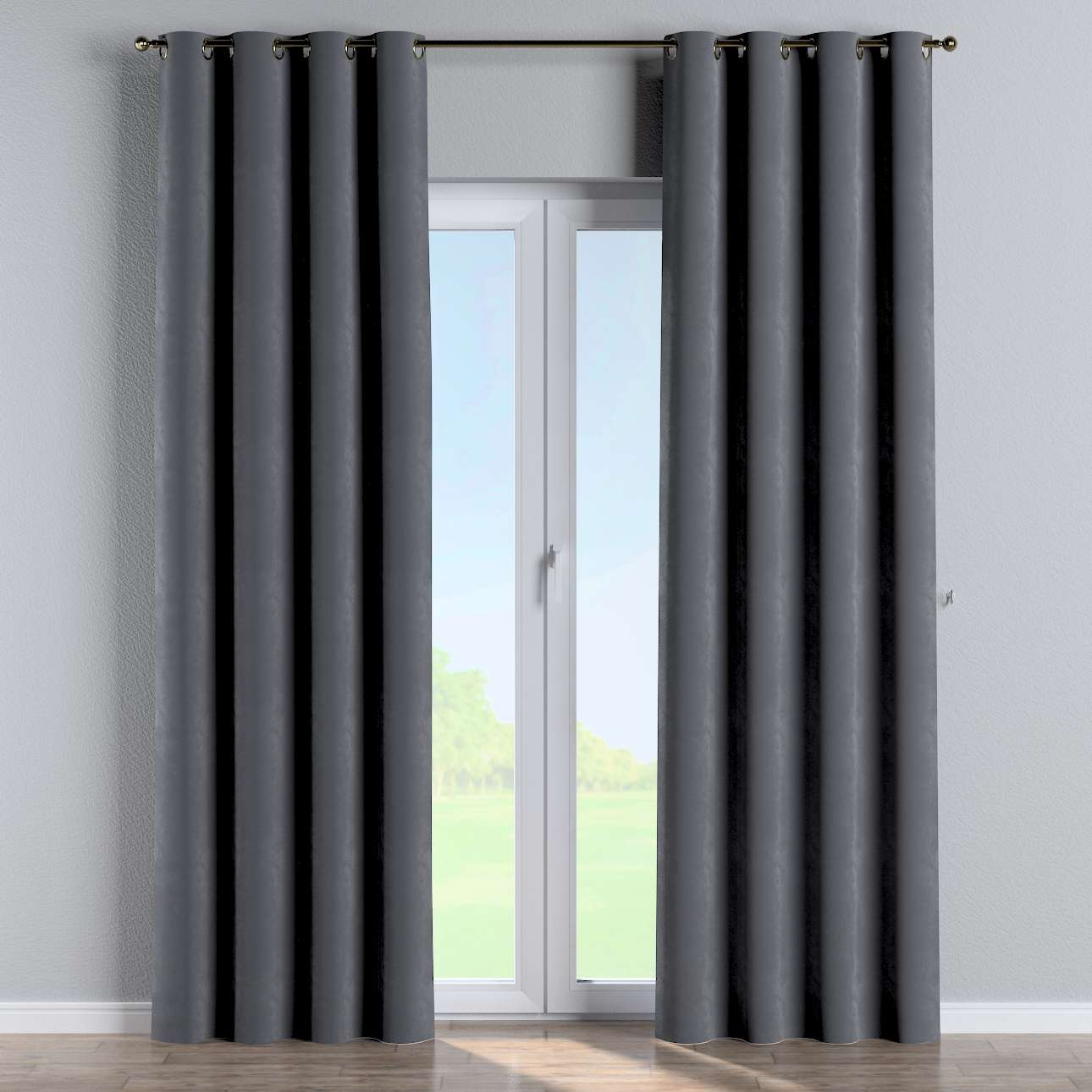 Eyelet curtains in collection Velvet, fabric: 704-12