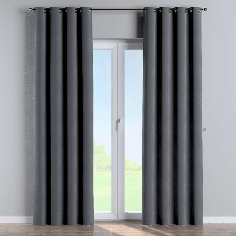 Eyelet curtain in collection Velvet, fabric: 704-12