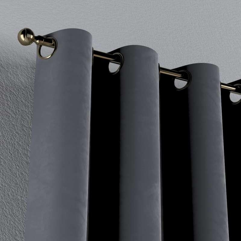 Gardin med öljetter 1 längd i kollektionen Velvet, Tyg: 704-12