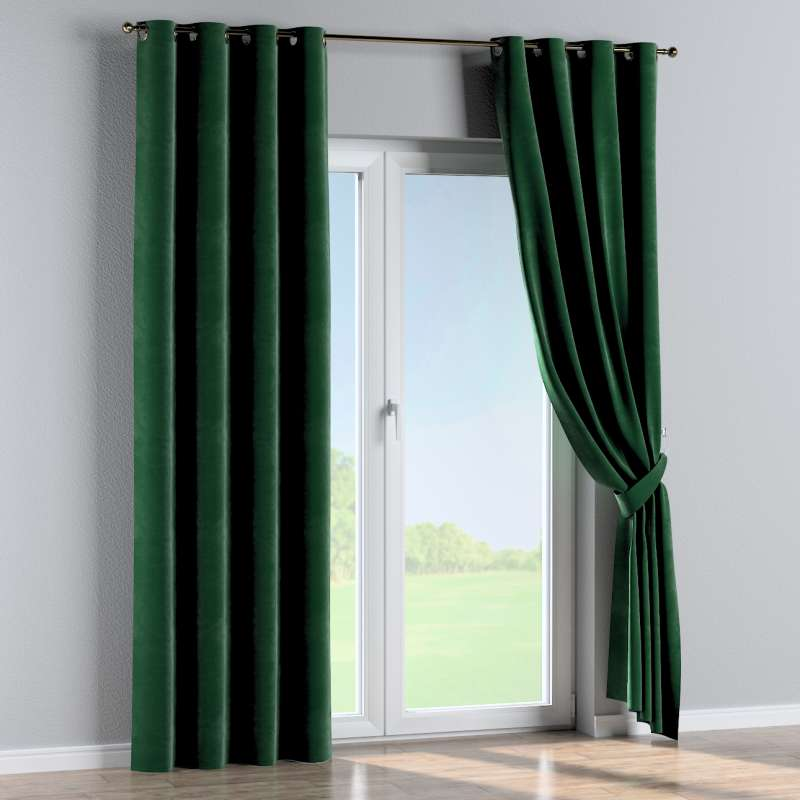 Eyelet curtain in collection Velvet, fabric: 704-13