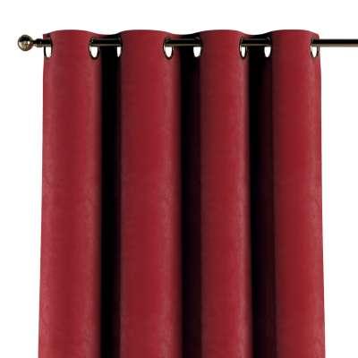 Zasłona na kółkach 1 szt. 704-15 intensywna czerwień Kolekcja Velvet