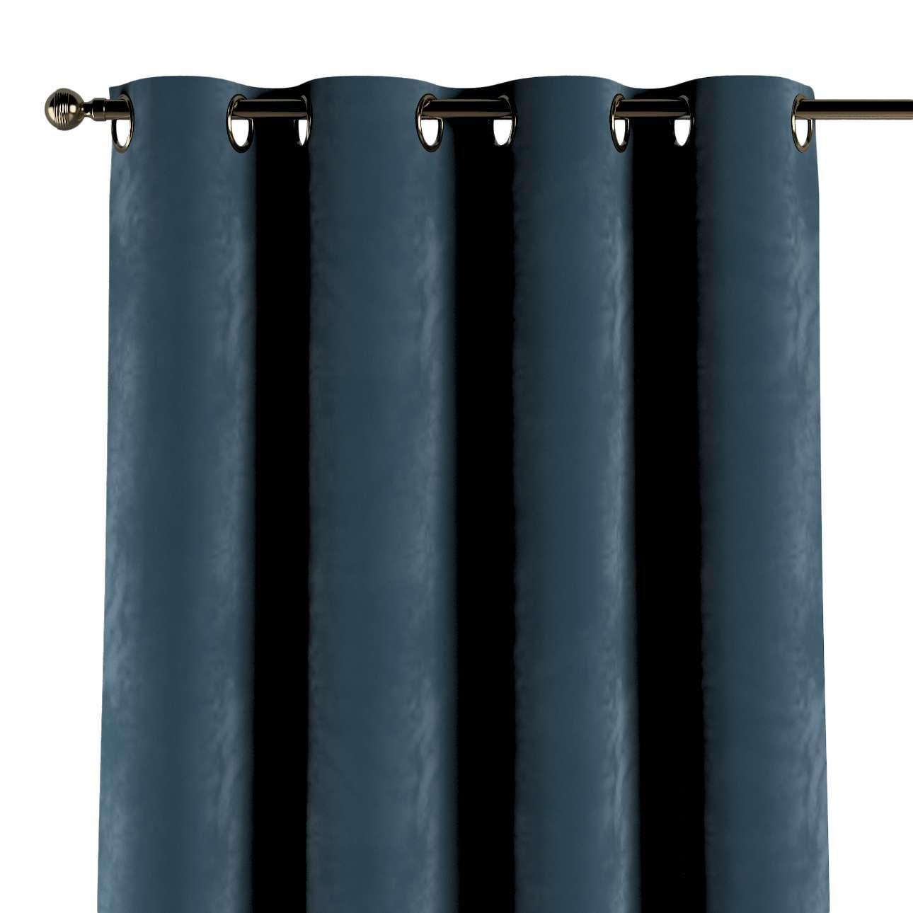 Gordijn met ringen van de collectie Velvet, Stof: 704-16