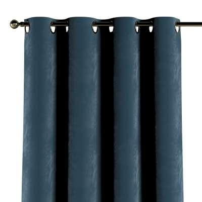 Závěs na kroužcích 704-16 staroněmecká modrá Kolekce Velvet