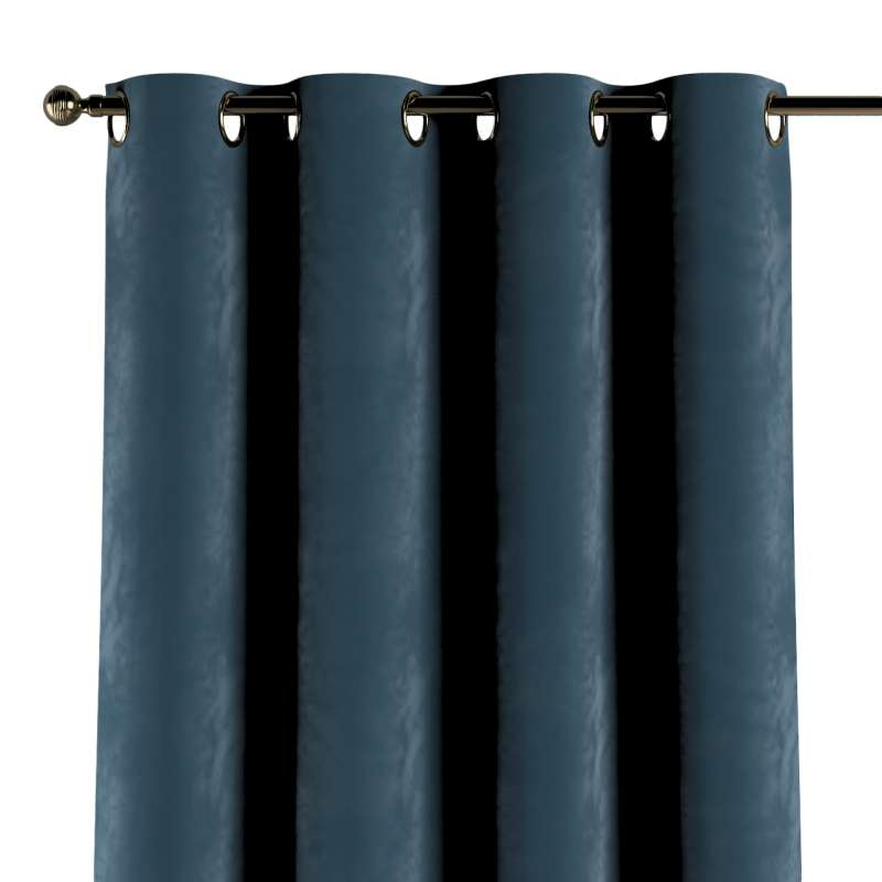 Gardin med öljetter 1 längd i kollektionen Velvet, Tyg: 704-16