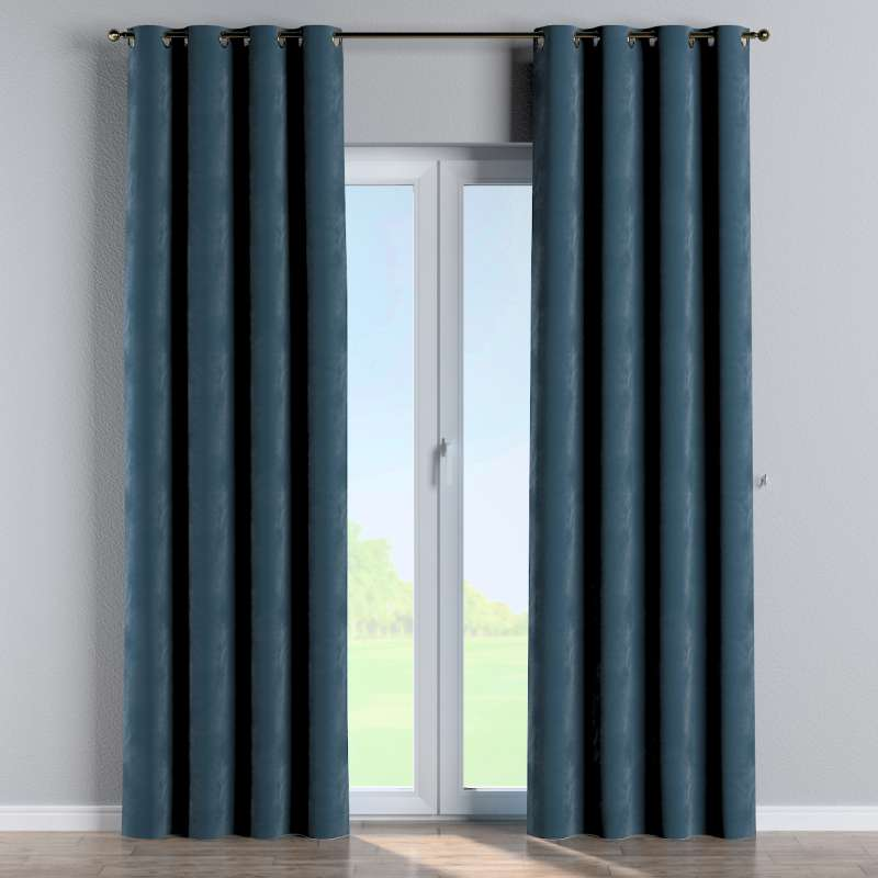 Eyelet curtain in collection Velvet, fabric: 704-16