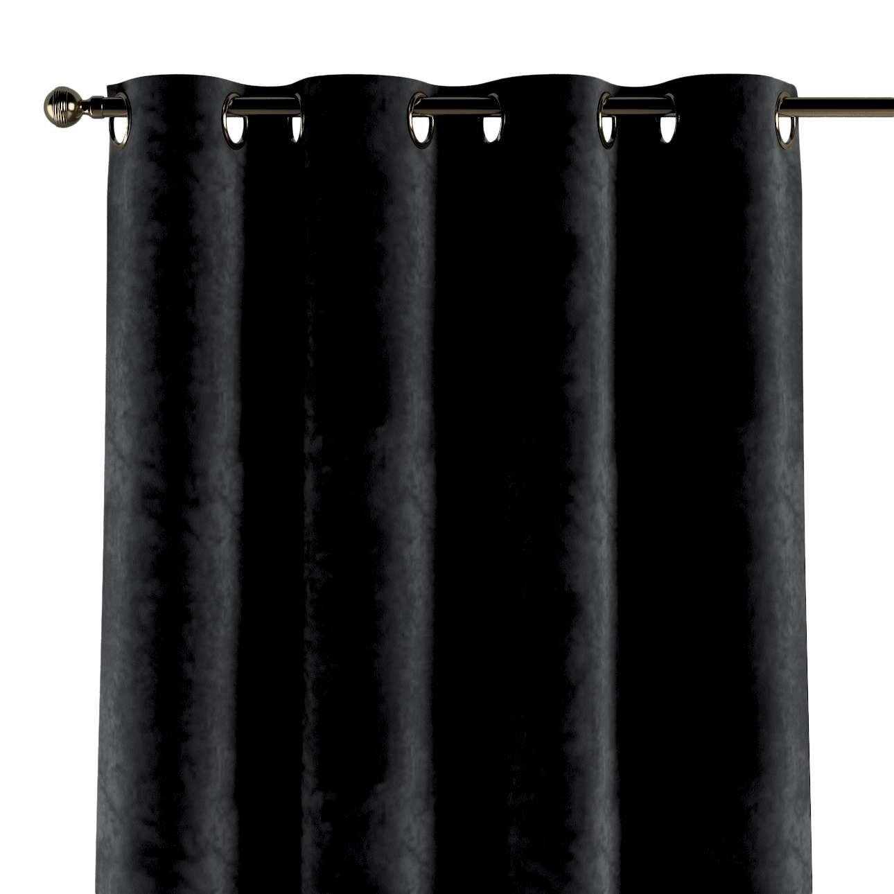 Gardin med maljer 1 stk. 130 × 260 cm fra kolleksjonen Velvet, Stoffets bredde: 704-17