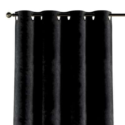 Gardin med maljer 1 stk. 704-17 Sort Kolleksjon Velvet