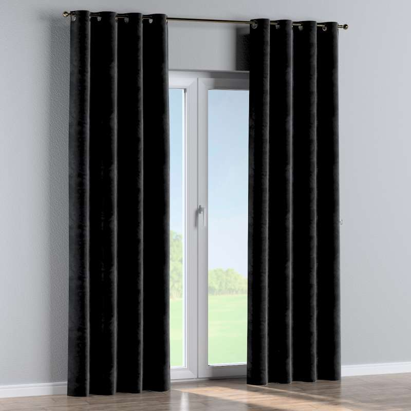 Eyelet curtain in collection Velvet, fabric: 704-17