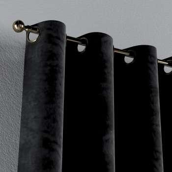 Gardin med öljetter 1 längd 130 × 260 cm i kollektionen Velvet, Tyg: 704-17