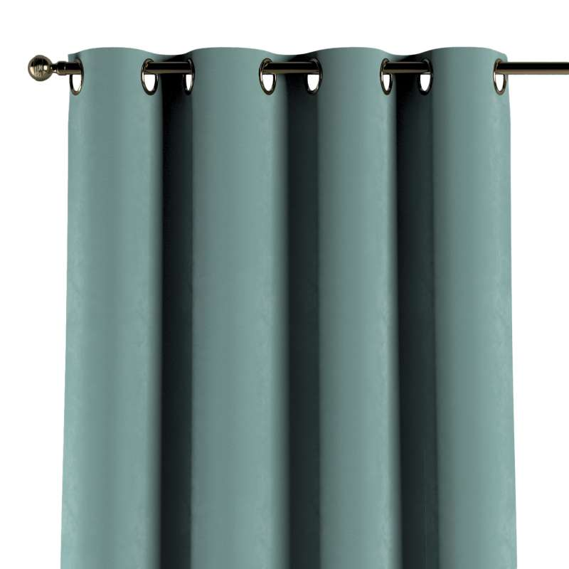 Gardin med öljetter 1 längd i kollektionen Velvet, Tyg: 704-18