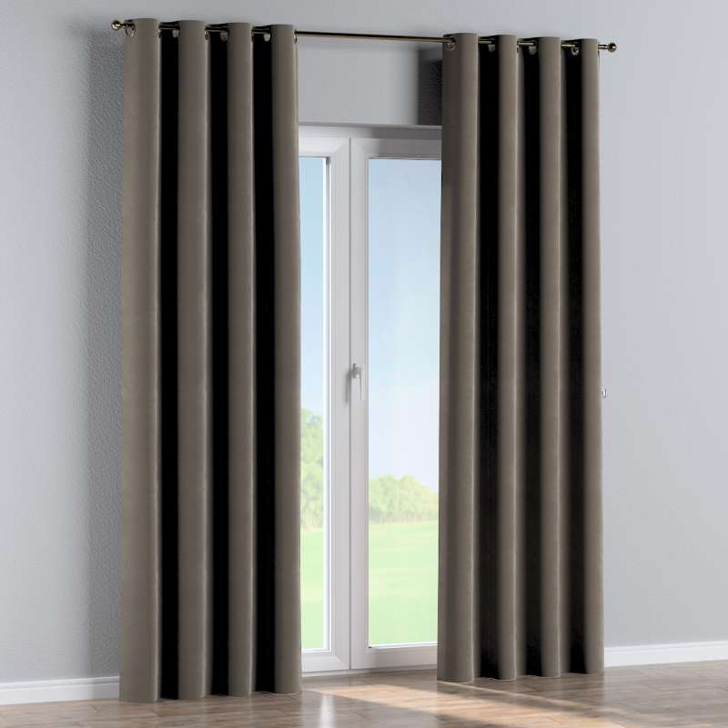 Eyelet curtain in collection Velvet, fabric: 704-19