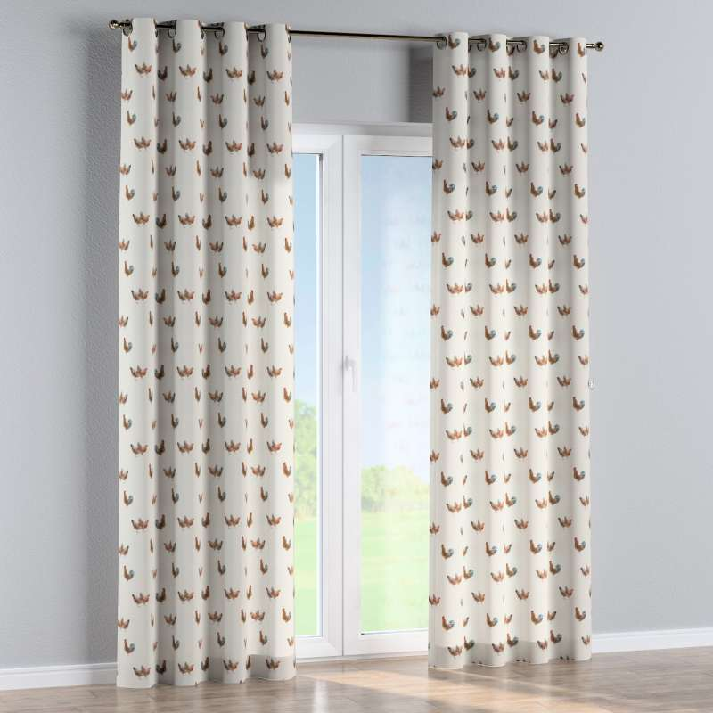 Eyelet curtain in collection Flowers, fabric: 141-80
