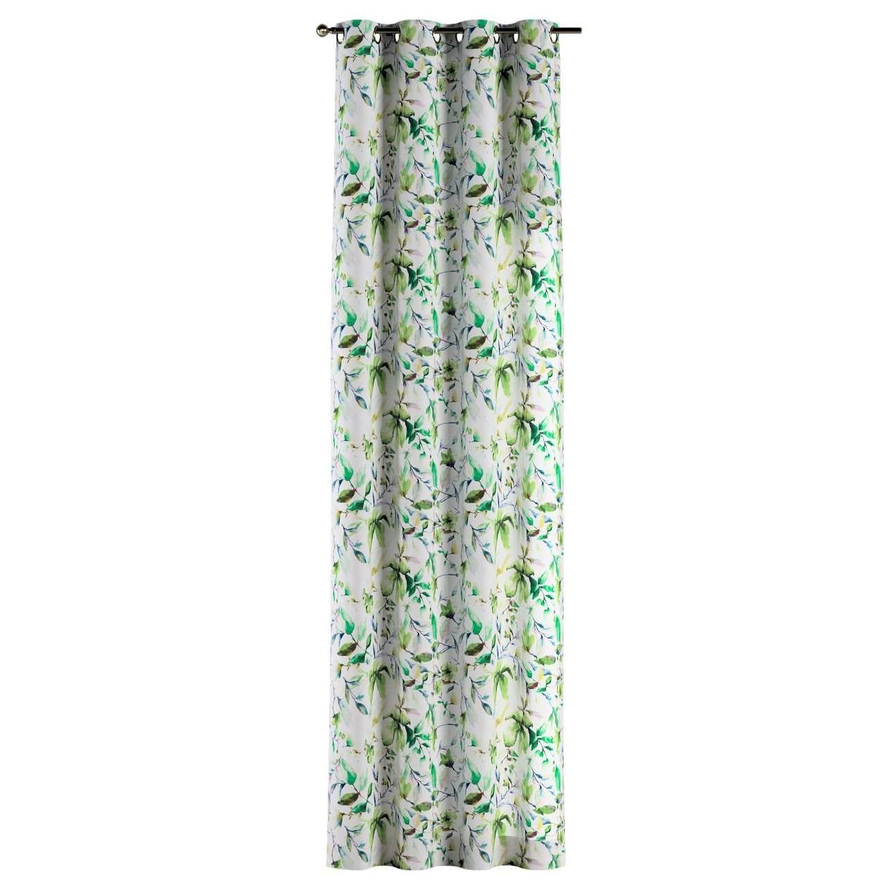 Gardin med öljetter 1 längd i kollektionen Velvet, Tyg: 704-20