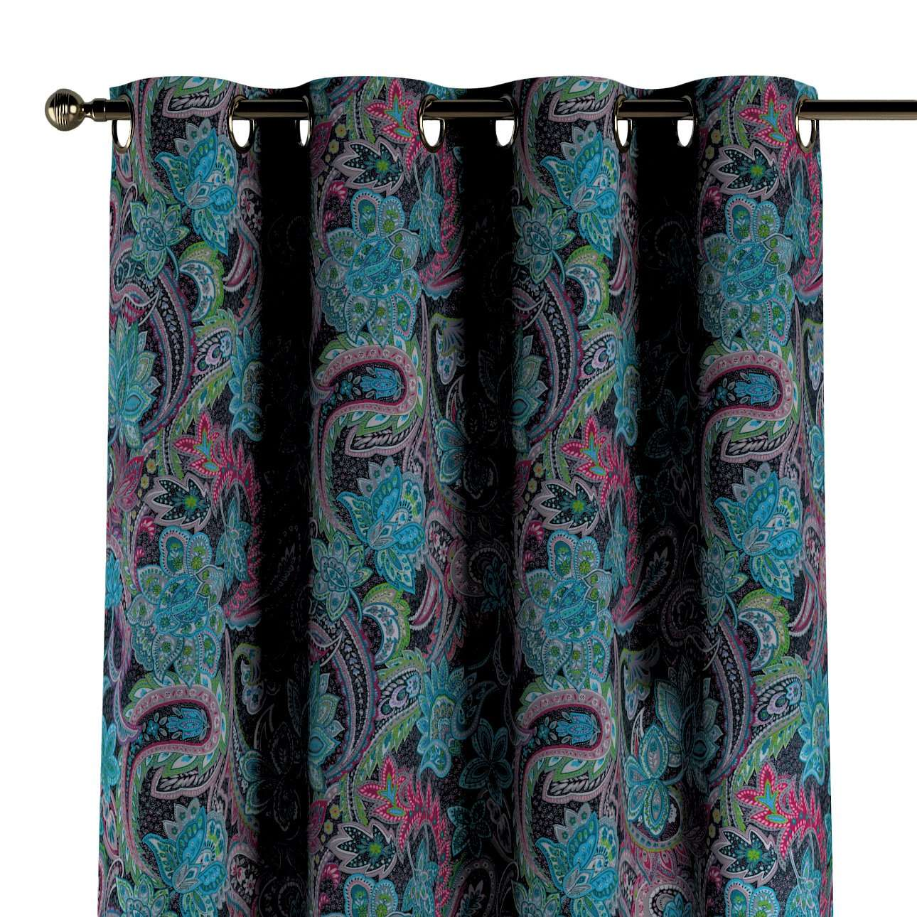 Zasłona na kółkach 1 szt. w kolekcji Velvet, tkanina: 704-22