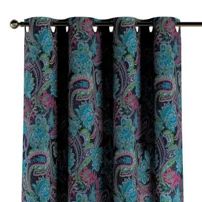 Zasłona na kółkach 1 szt. 704-22 wielokolorowy paisley Kolekcja Velvet