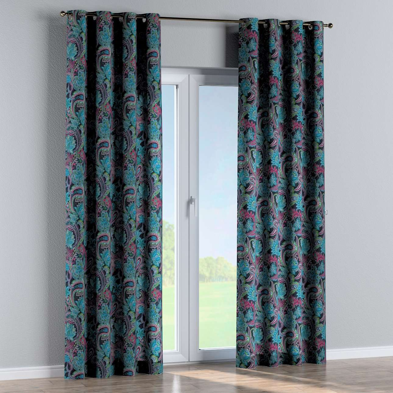 Eyelet curtains 130 × 260 cm (51 × 102 inch) in collection Velvet, fabric: 704-22
