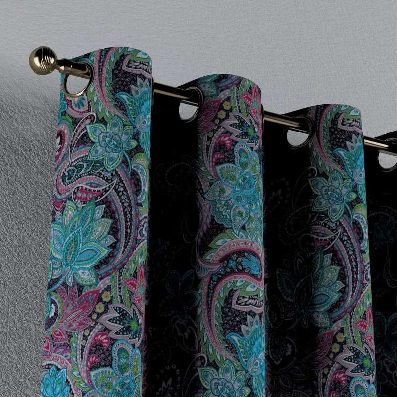 Gardin med øskner 1 stk. fra kollektionen Velvet, Stof: 704-22