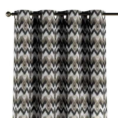 Užuolaidos žiedinio klostavimo 1vnt. 141-88 Juodos ir smėlio spalvos zigzagai šviesiame fone Kolekcija Modern