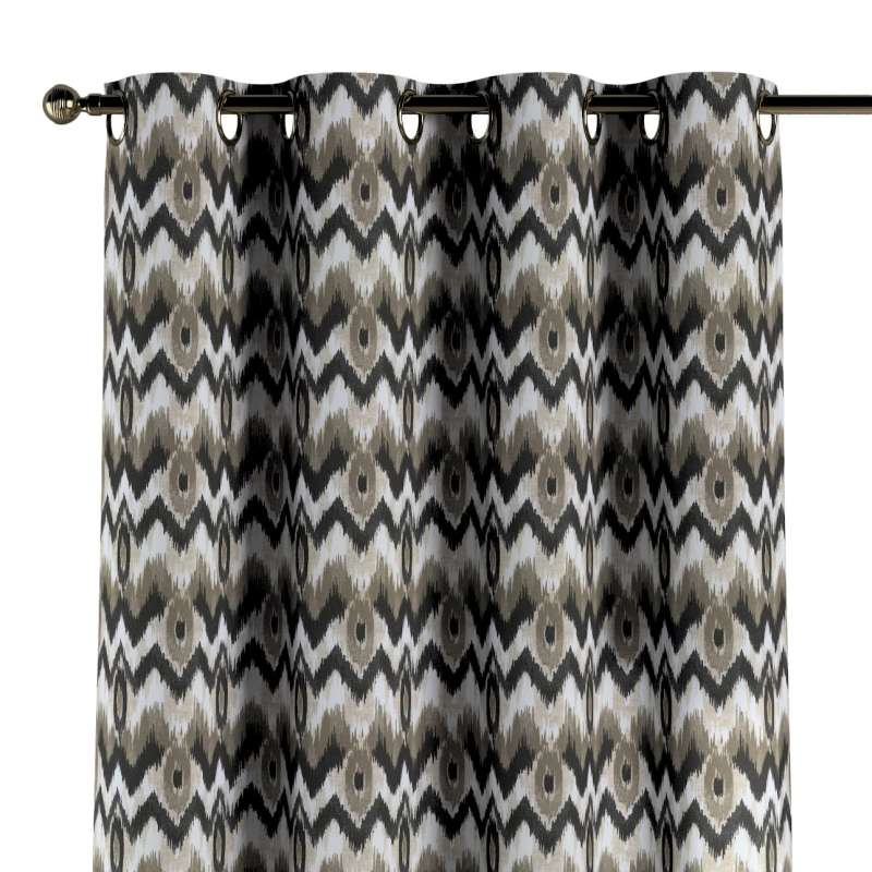 Gardin med öljetter 1 längd i kollektionen Modern, Tyg: 141-88